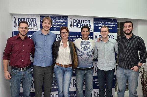 Frederico Stefanelli, André Heller, Vera Mossa, Maurício Lima, Dr. Vinicius Stefanelli  e Dr. Bruno de Sousa Donato. (foto:divulgação)